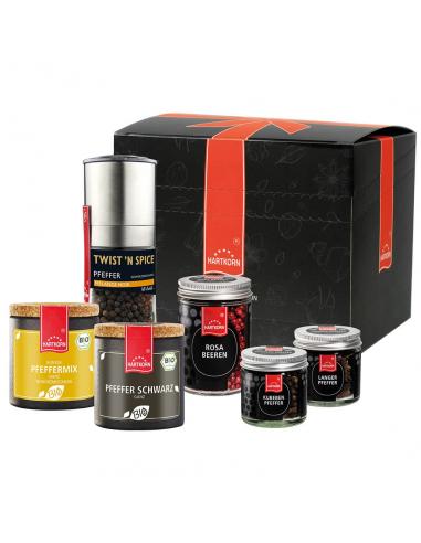 Pepper spice set in the box