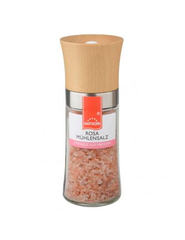 Holz Salzmühle Rosa Mühlensalz