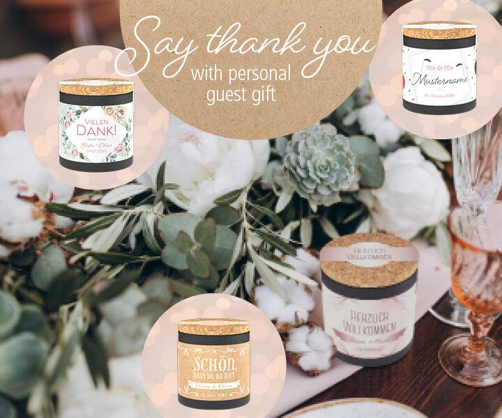 Hochzeits - Gastgeschenke
